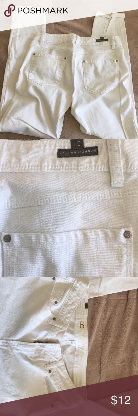 "Lauren Conrad White Jeans 26"" inseam LC Lauren Conrad Jeans Ankle & Cropped"