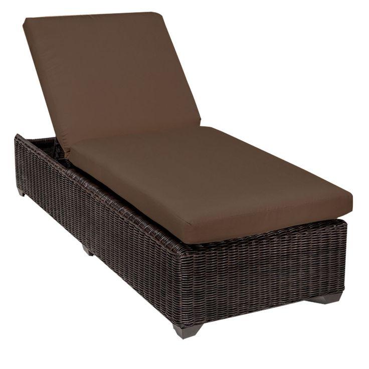 tkc venice chaise lounge chair outdoor wicker patio furniture cocoa