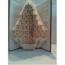 Christmas Tree Joy Hope Believe - book folding pattern - bookfolding - book fold - cut and fold pattern - book art - papercrafts - christmas crafts - diy gifts - Bookami