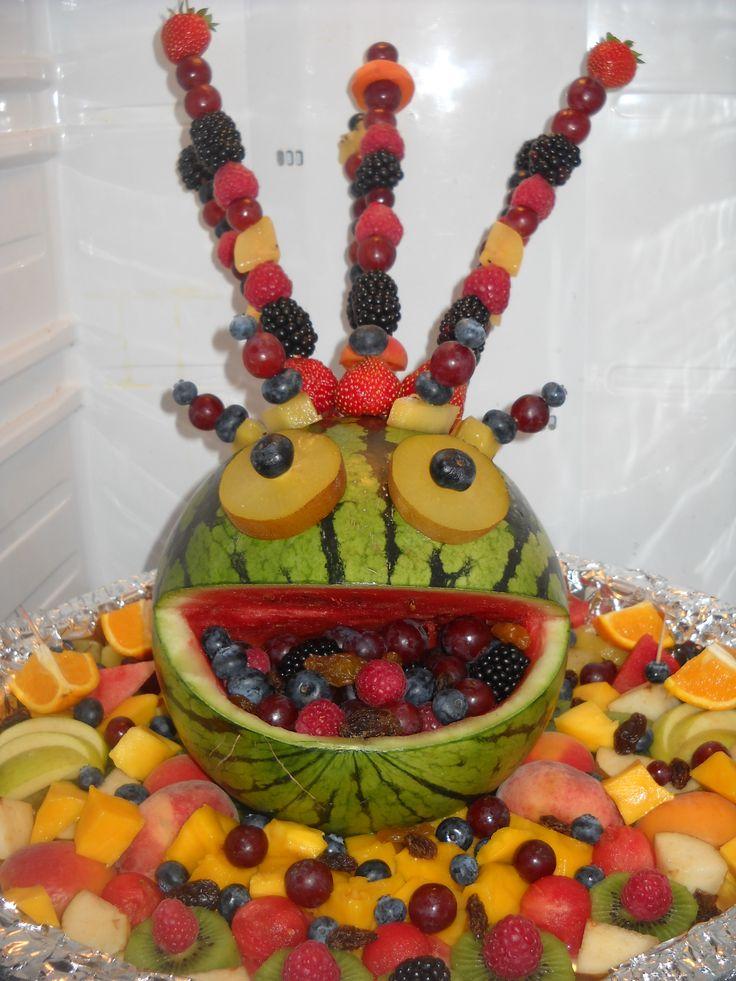 Fruitmonster... gezonde snack voor hippe feestjes