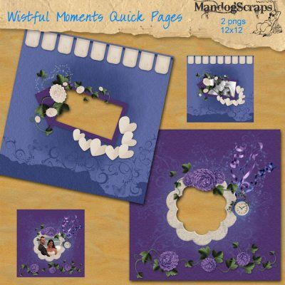 These 2 quick pages were made using my Wistful Moments kit in store  3600x300 in png format