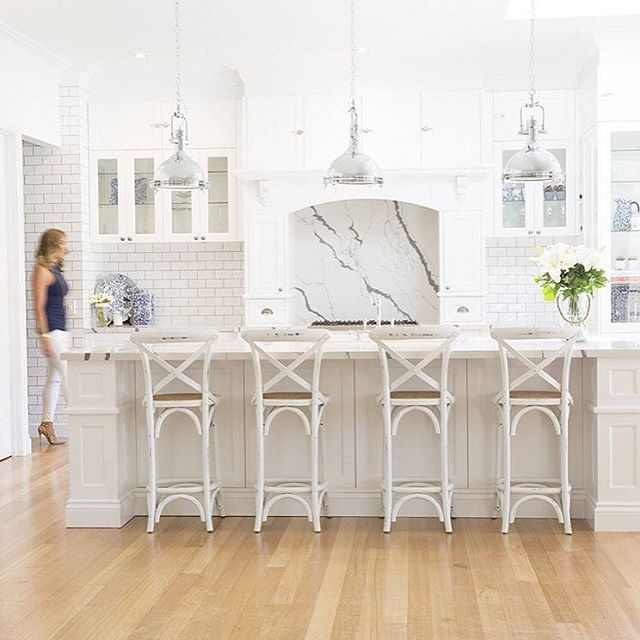 Hamptons Style Lighting: American Kitchen, Hampton Style And White Kitchen