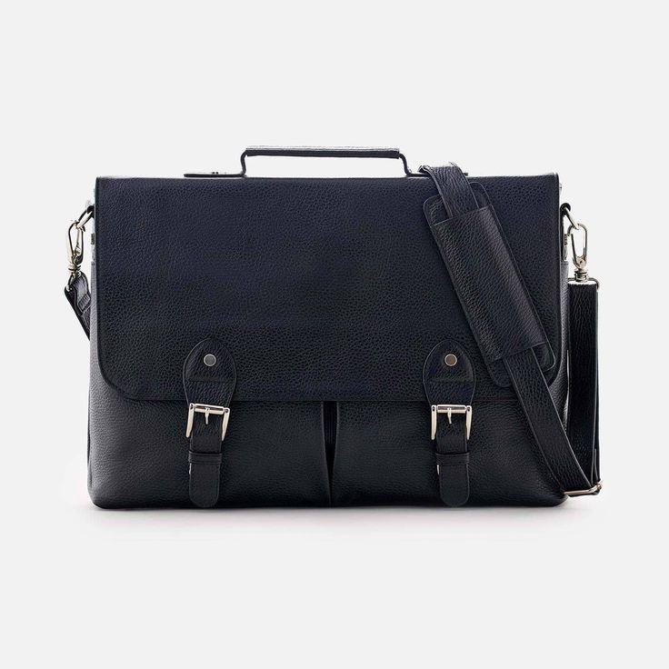 Dalton Satchel - Full grain Leather - Black