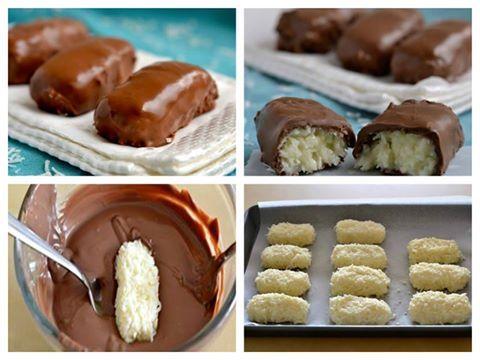 Σοκολατάκια με γέμιση ινδοκάρυδο !!! ~ Fantastikomagazine