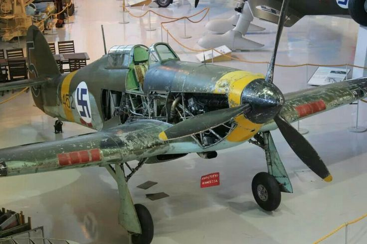 Finnish Hawker Hurricane in its ww2 paint in Finland