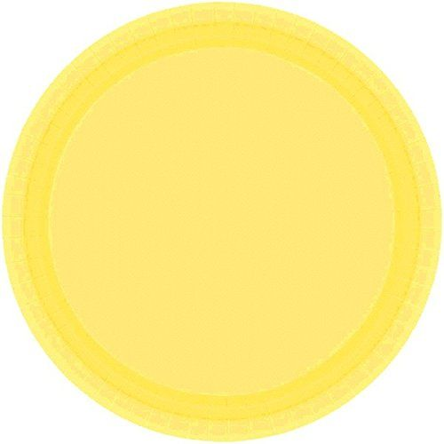 "Disposable Party Round Dinner Plates Tableware, Light Yellow, Paper , 9"", Pack of 20:   Coordinate these Light Yellow Dinner Paper Plates to accent your decorations for any special event! They're perfect for food, for serving treats at your candy buffet or for piling on the desserts  These sturdy, disposable plates can handle the full buffet spread  They're also great for graduation parties, birthday parties and bachelorette parties  Add a splash of color to any celebration with this e..."