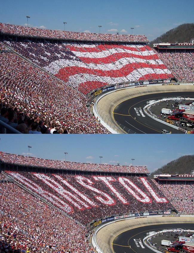 Another must-see race, the night race at Bristol Motor Speedway