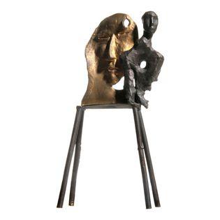 Sandro Chia, Gold Face, Bronze Sculpture - Artist:  Sandro Chia, Italian (1946 - )