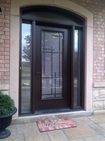 Lovely Contemporary Fiberglass Entry Doors