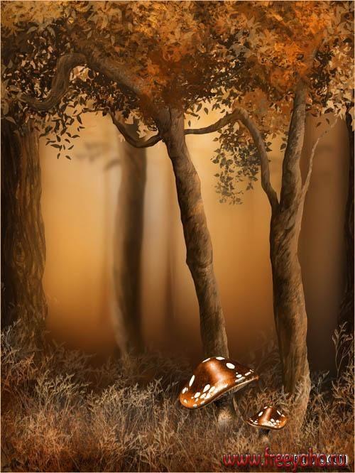 Fall Woodland Creatures Wallpaper Autumn Fairy Backgrounds фоны от Jaguarwoman Fairy