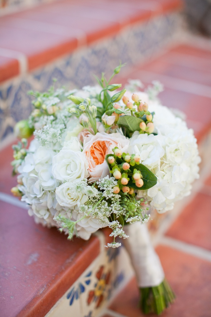 Garden Rose And Hydrangea Bouquet 48 best peach and blue images on pinterest | bridal bouquets