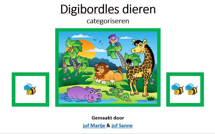 digibordles dieren (categoriseren)