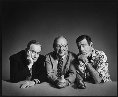 Jack Lemmon, Neil Simon and Walter Matthau photographed by Timothy White