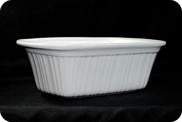 Rare Corning Ware Stoneware Bread Meat Loaf Pan 1 3 4