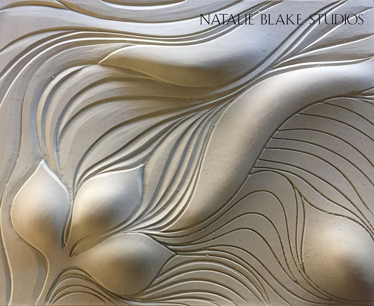 Organic hand carved porcelain tiles ~ in process ~ by Natalie Blake Studios, Brattleboro, Vermont