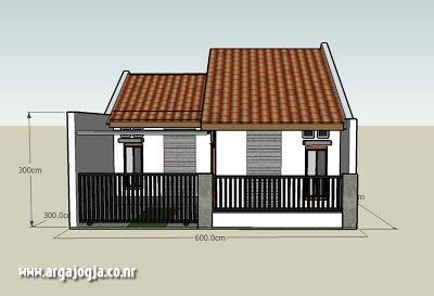 Desain Rumah Modern Tipe 60 - Rumah Minimalis