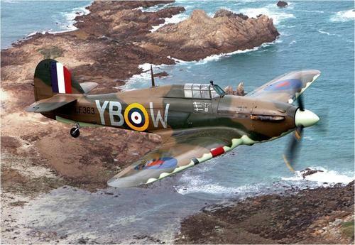 Hawker Hurricane in flight