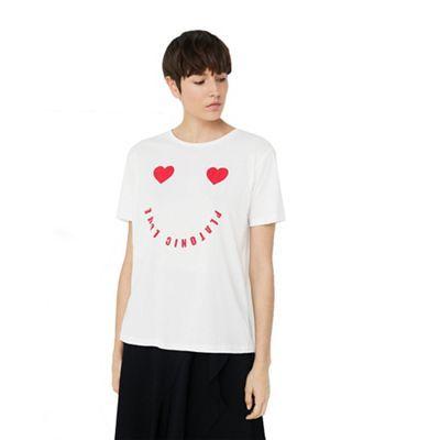 Mango White 'Platonic' t-shirt | Debenhams