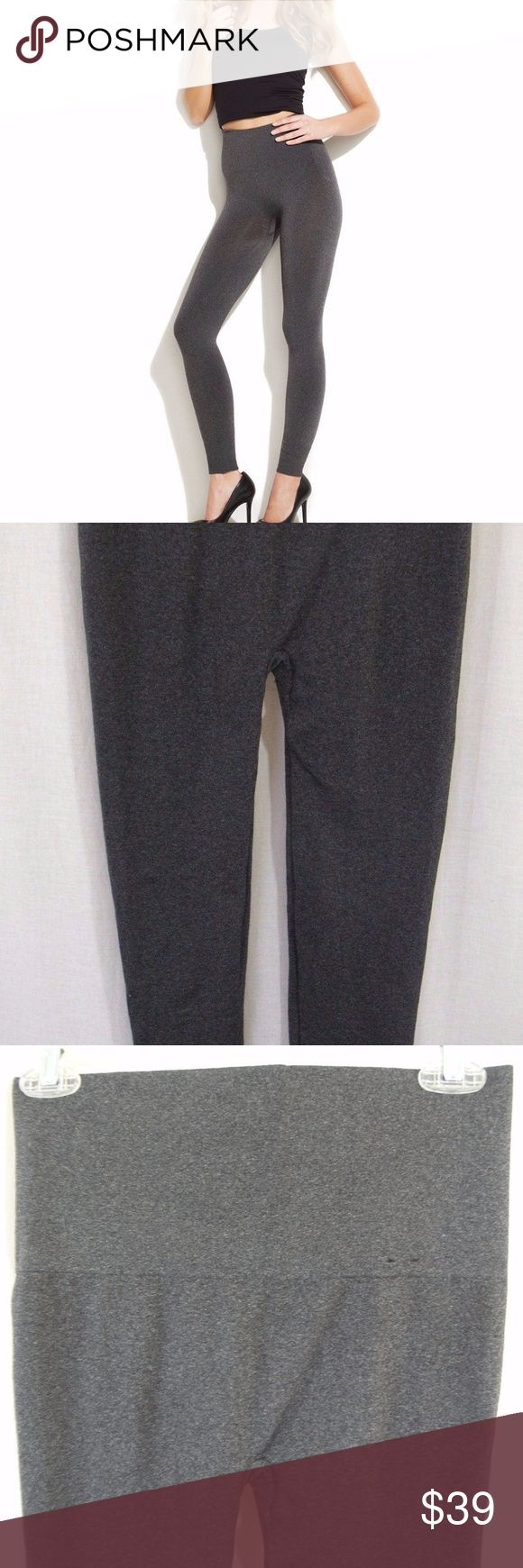 Spanx Star Power Seamless Cuffed Leggings Shaping Spanx Seamless Shaping Leggings Women's Size M Star Power Cuffed Gray NEW  Women's Size Medium Wide waistband for shaping Ribbed cuff at bottom of leg Smooth and sleek look Body Shaping Stretch material 51% Nylon 40% polyester 9% Spandex New without tags SPANX Pants Leggings