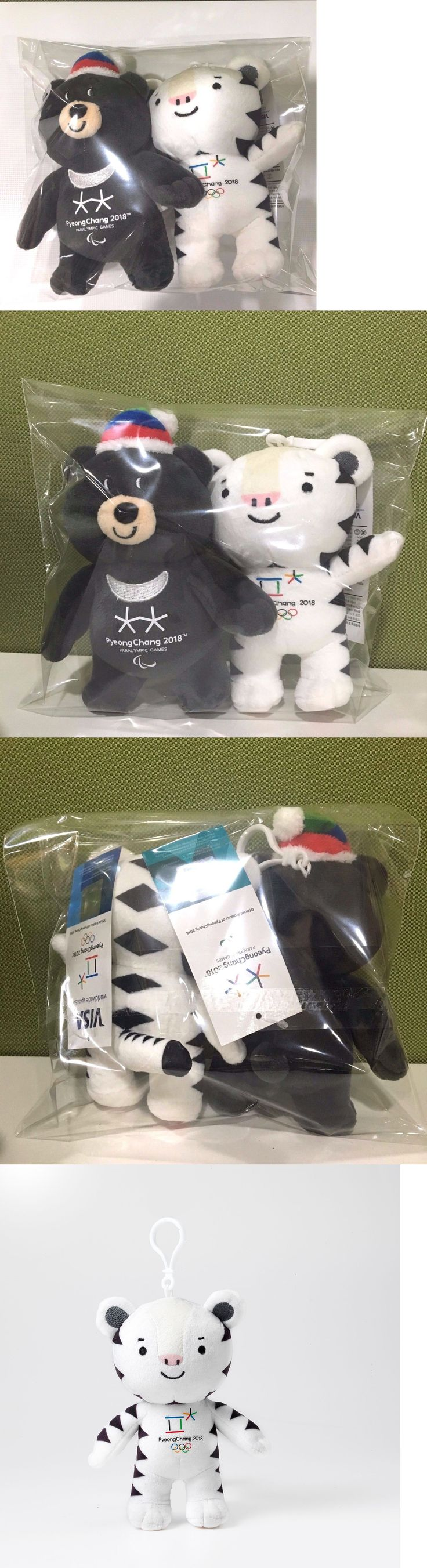 Olympics 27291: Pyeongchang 2018 Korea Winter Olympic Masoct Bag Charm Plush Doll 2Ea Bandabi -> BUY IT NOW ONLY: $40 on eBay!