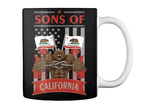 Sons Of California Black T-Shirt Back