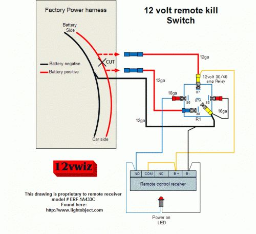 12 Volt Remote Kill Switch Diagram By 12vwiz Sg Gear