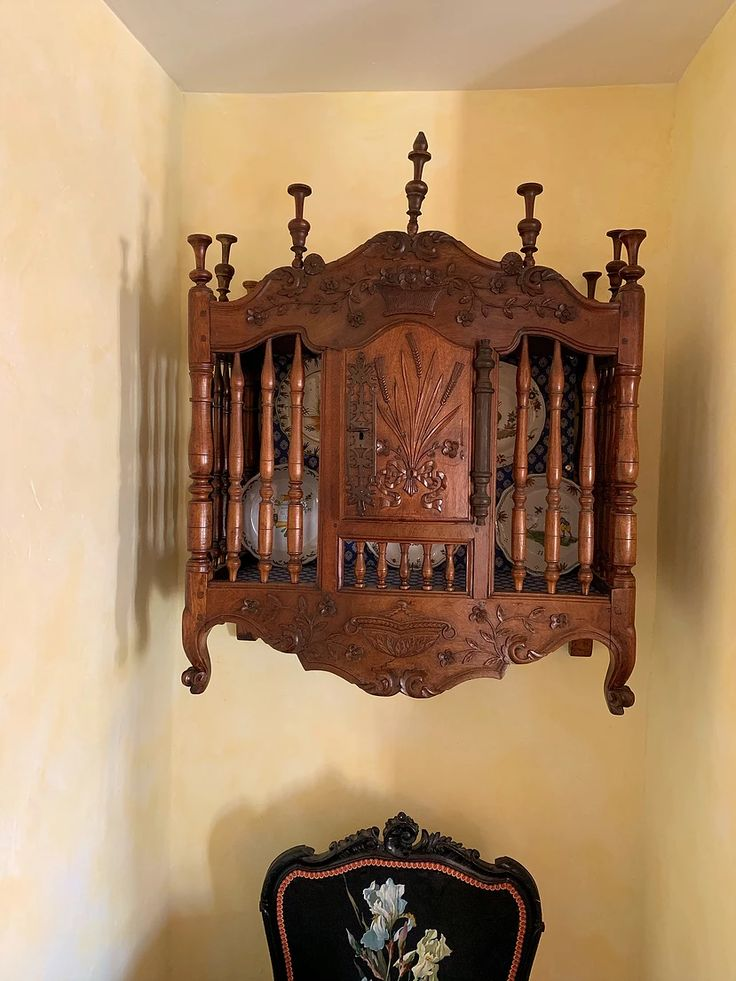 19th Century Drawing Room: L'Oustal Pigassou -19th Century French Carved Walnut