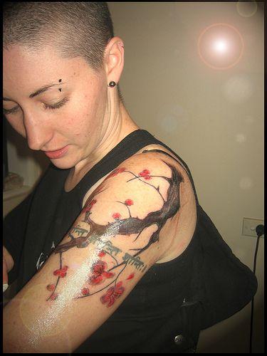Sexy Cherry Tree Tattoo on Arm - Stylendesigns.com!