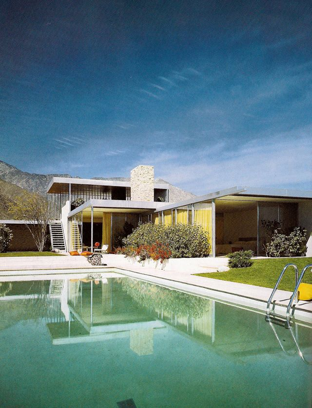 Kauffman desert house designed by Richard Neutra for the same as for whom Frank Lloyd Wright designed Falling Water house