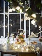 20 luci decorative peonie