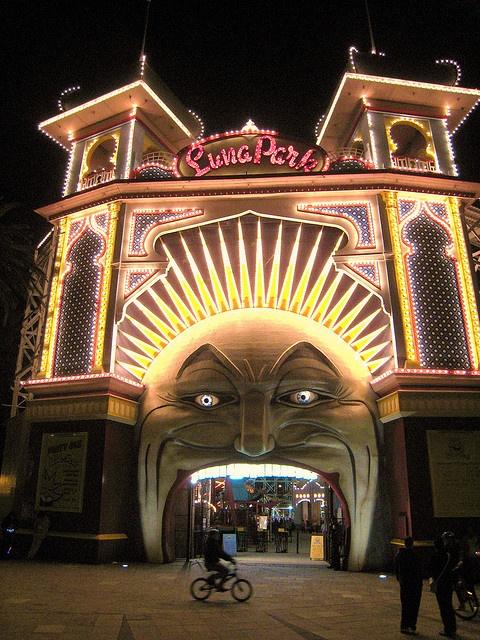 """Luna Park Amusment Park """"St Kilda"""" Melbourne Victoria Australia by les.butcher,"""