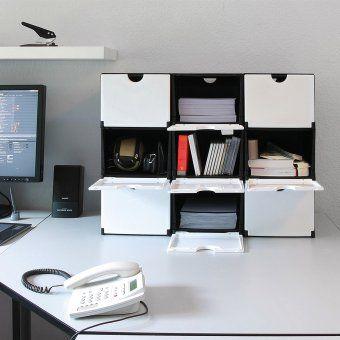#design3000 Individuell erweiterbare Aufbewahrungsboxen aus stabilem Kunststoff.
