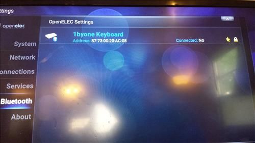 KODI Raspberry Pi 3 Bluetooth Keyboard