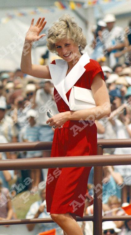 January 29, 1988: Princess Diana during the Royal visit to Australia for the Bicentenary celebrations.