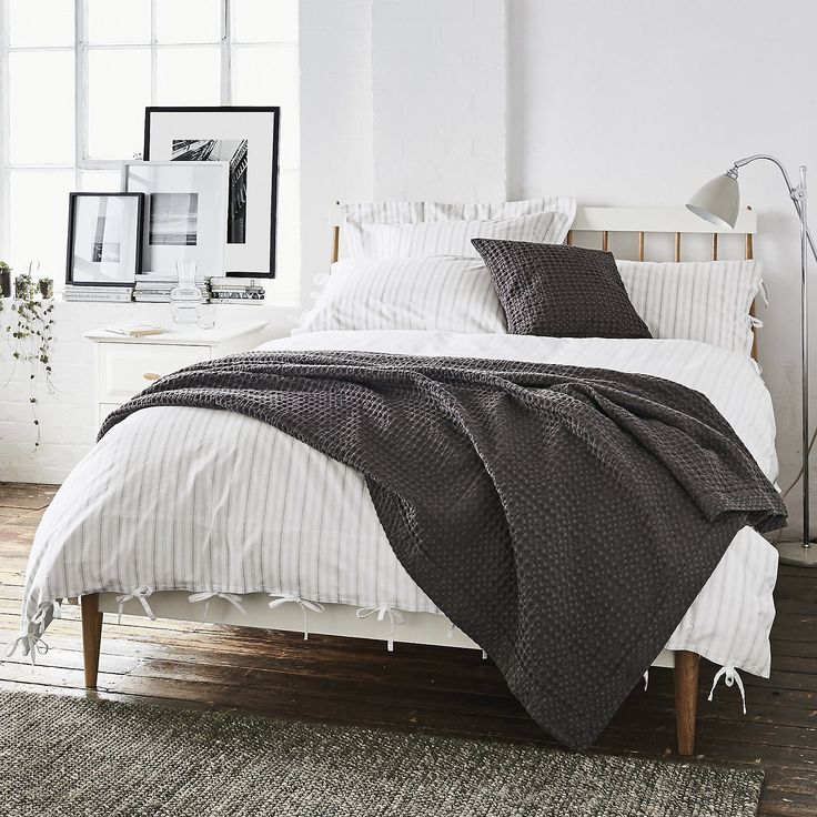 Ledbury Stripe Bed Linen Collection | Bed Linen Collections | Bedroom | The White Company US display art.