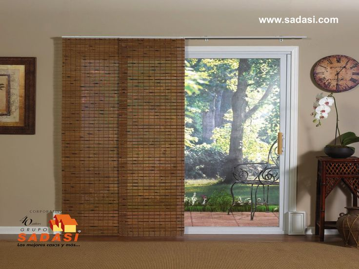 Best Window Coverings Images On Pinterest Window Coverings - Bamboo sliding glass door curtains