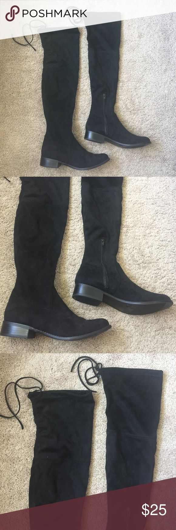 Black over knee boots Black Shoes Over the Knee Boots