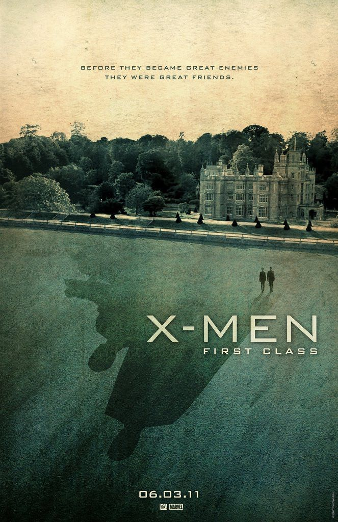 X-Men: First Class    Hollywood posters tend to be quite dull, fan made posters are however quite excellent