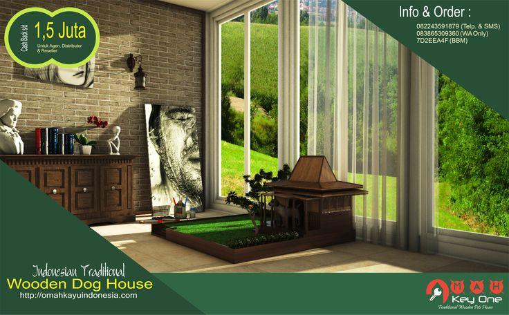 Dijual : Rumah Anjing Desain Rumah Adat dari Kayu Jati   Omah Kayu Indonesia