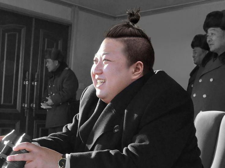 Tous en hispters ! En deuxième position, ce détournement de Kim Jong-un. Notons que la vraie coiffure du dictateur nord-coréen est déjà un chef d'œuvre en soi.