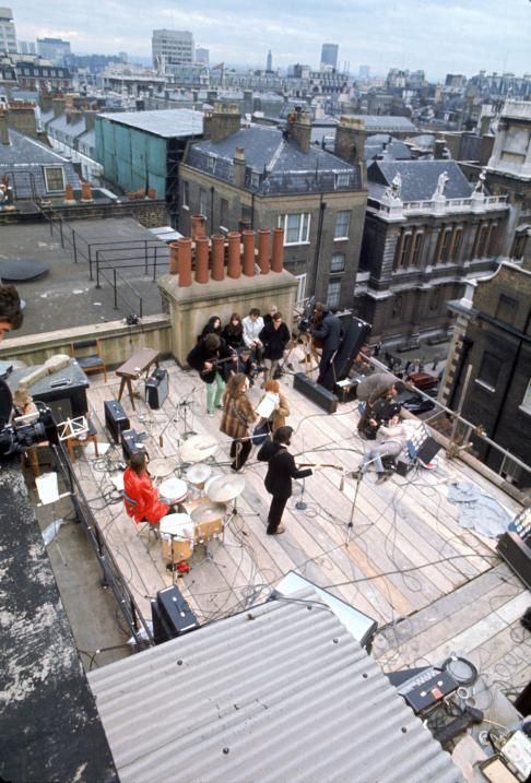 The Beatles' final public performance, on the roof of the Apple offices - The Beatles: The Beatles, Rooftops Concerts, Finals, Ringo Starr, London, Abbey Roads, Apples Records, Graphics Design, Records Studios