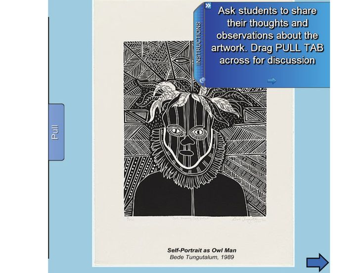 """This wonderful resource provides IWB support material for the Stage 1 Visual Arts Unit of Work """"The Animal In Me"""" Students represent themselves through drawing and monoprinting. They investigate how shape,texture and line can be used to express ideas about themselves. The students make artworks that include the qualities of animals in representations of themselves.  https://www.interactivelessons.com.au"""