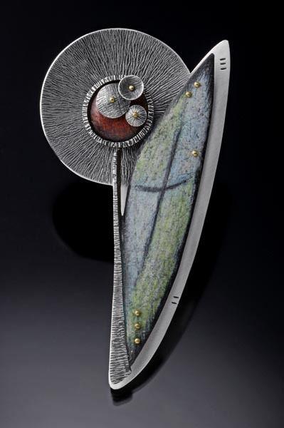 Deb Karash Jewelry debkarash.wordpre... Deb's unique combination of copper, patina, sterling silver, brass, colored pencil has produced truely beautiful art pieces