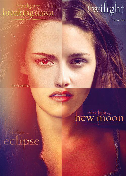 Twilight Bella...just goes to show you she has the EXACT same look on her face on every movie poster