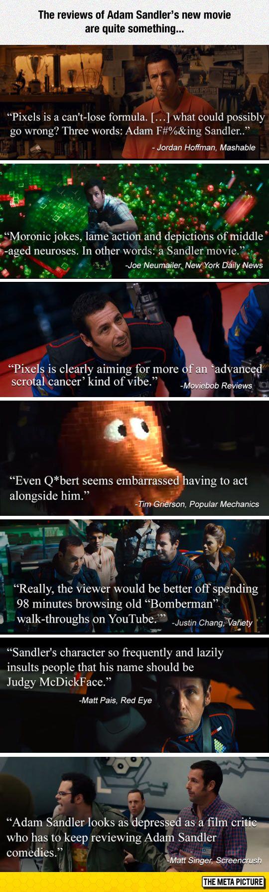 Adam Sandler's New Movie Reviews