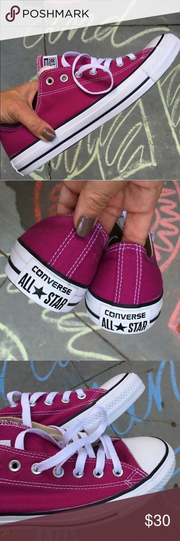 NWOB  CHUCKS! Size 13 men's New never worn Converse! Size 13 men's available. Color is magenta. ships from my smoke free home same or next day. Bundle to save  Converse Shoes Sneakers