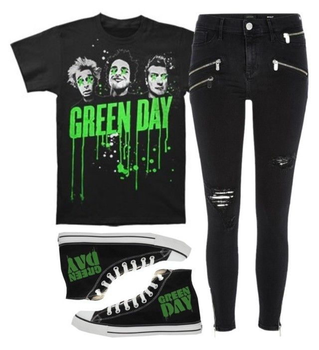 """Green Day"" by spnlex ❤ liked on Polyvore featuring Converse and River Island"