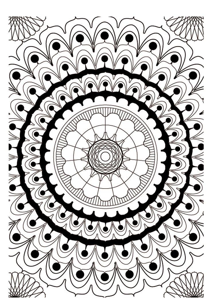 Elegant Mandala Coloring Books 79 Art therapie mandalas