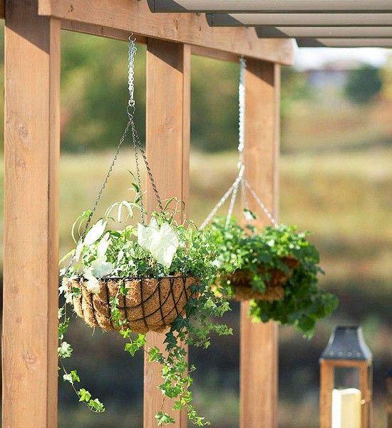 Tipps-zur-terrassengestaltung-blumenkörbe | Dekoration | Pinterest ... Terrassengestaltung Tipps