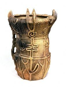 From Miyanomae, Ina-shi, Nagano. H. 59.5 Jomon Period 3000-2000 B.C.